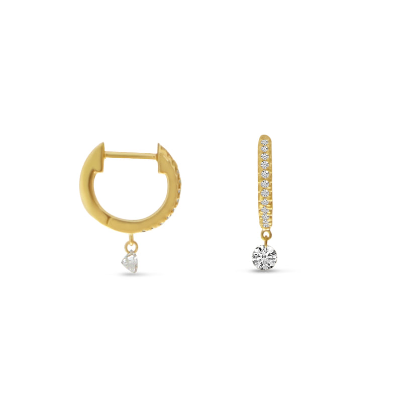 Dashing Diamond Huggie Earrings