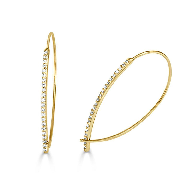 Sabrina Designs 14K Yellow Gold Diamond Earrings