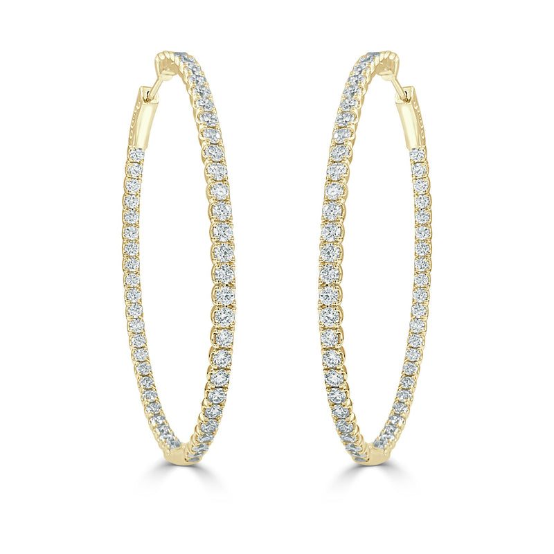 Sabrina Designs 14k Yellow Gold Diamond 3.60 ct. Oval Hoops