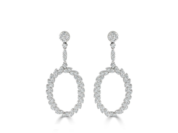 Sabrina Designs 14K White Gold Diamond Dangle Earrings