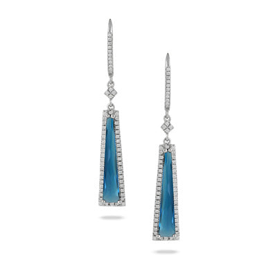 Doves London Blue Topaz and Mother of Pearl Earring