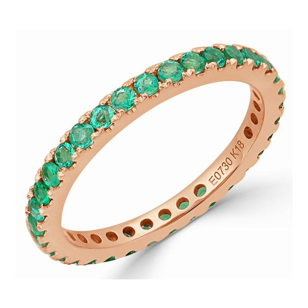 Emerald Stackable Eternity Ring