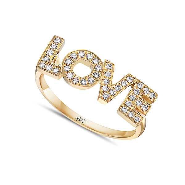 """Love"" Diamond Ring"