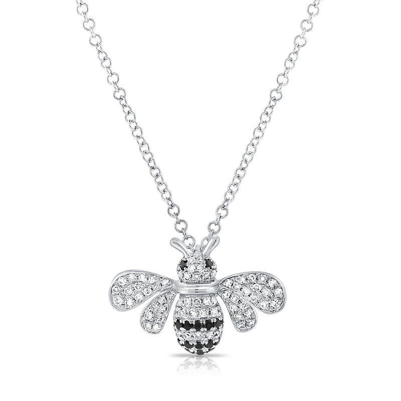 Sabrina Designs 14k White Gold Diamond Bumble Bee Necklace