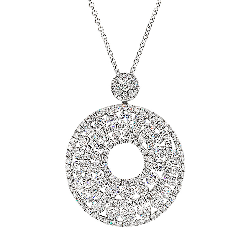 Diamond Swirl Necklace