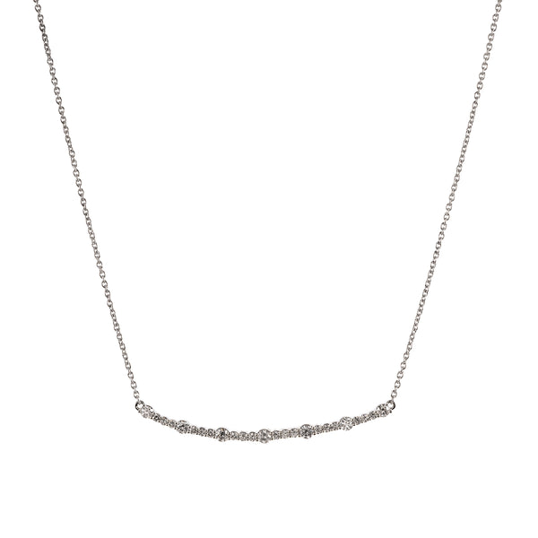 Long Curved Bar Necklace