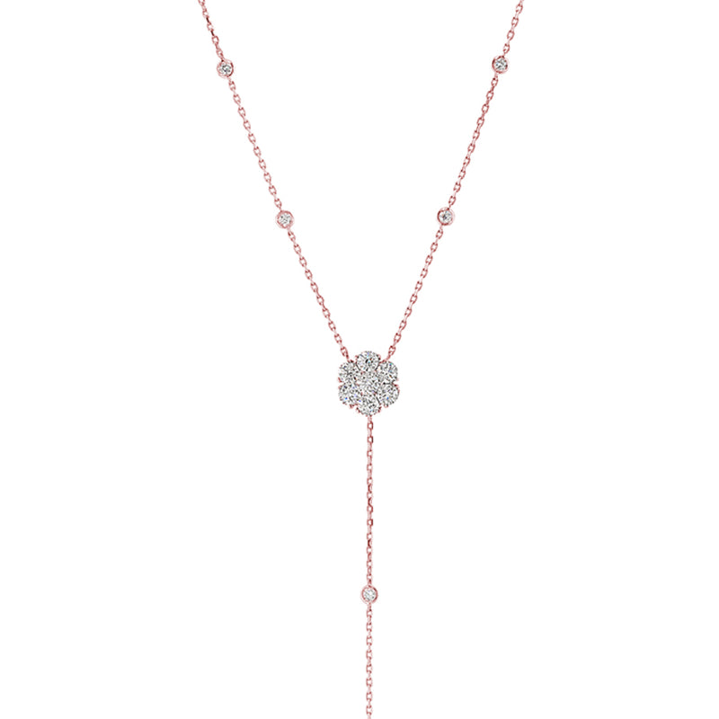 "Diamond Cluster ""Y"" Necklace"