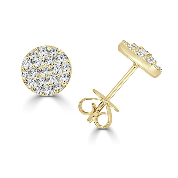 14K Gold & Diamond Stud Earring