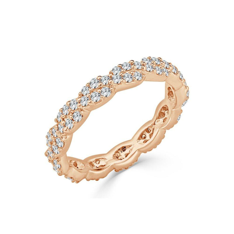 18K Gold & Diamond Twist Band