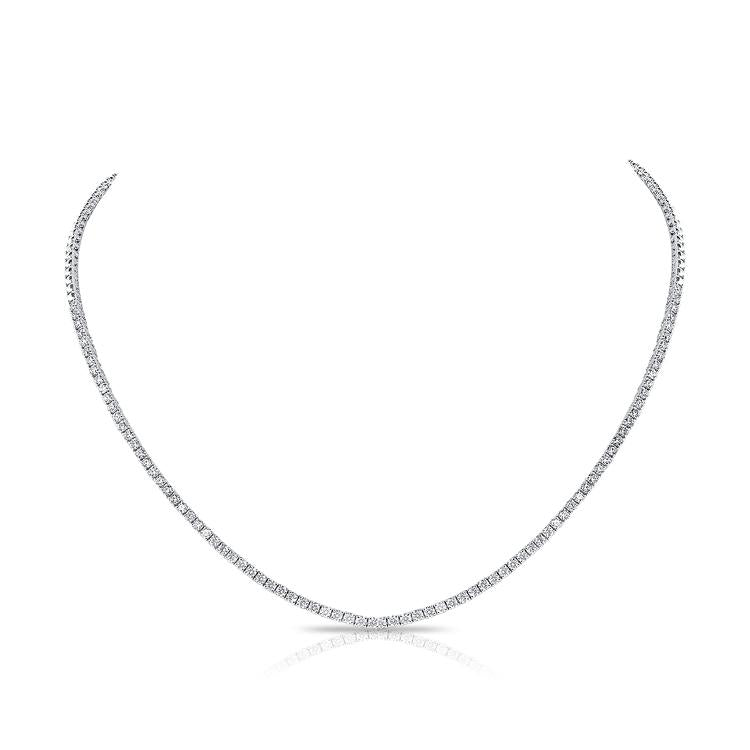 14K White Gold Diamond Collar Necklace