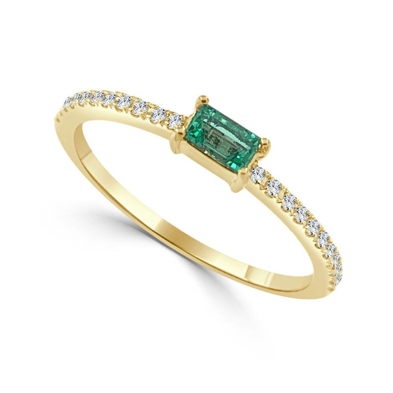 Sabrina Designs 14k Yellow Gold Diamond & Emerald Stackable Ring