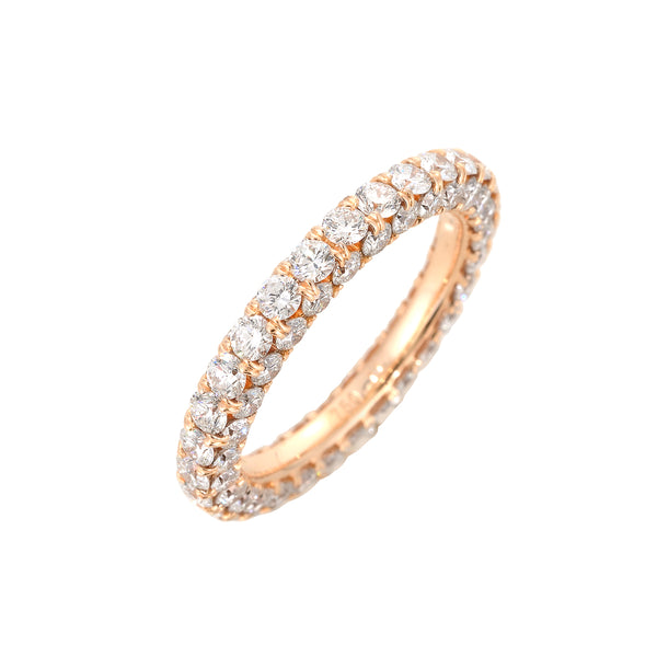 Rose Gold Diamond Infinty Eternity Band