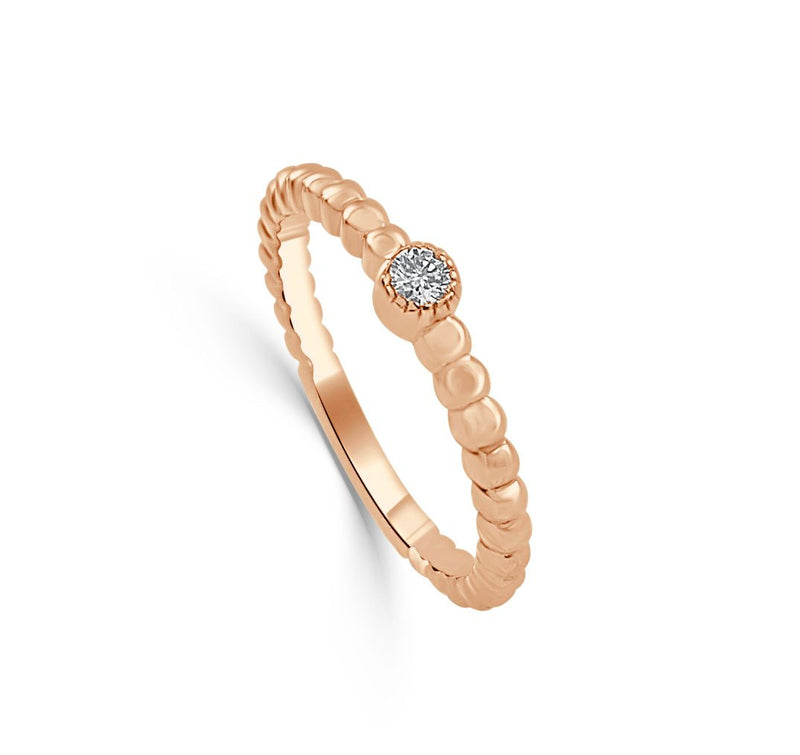Sabrina Designs 14k Rose Gold Diamond Beaded Ring
