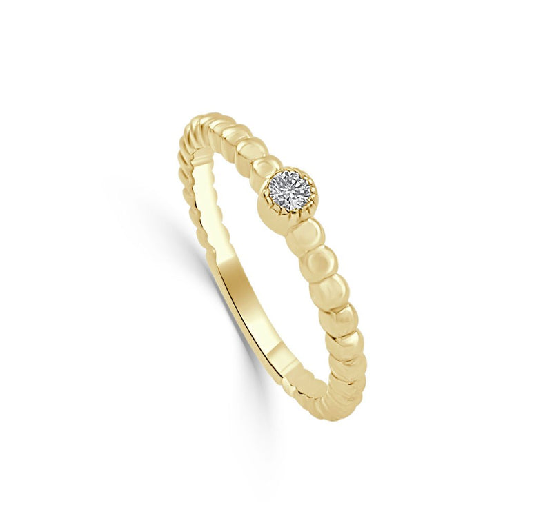 Sabrina Designs 14k Yellow Gold Diamond Beaded Ring