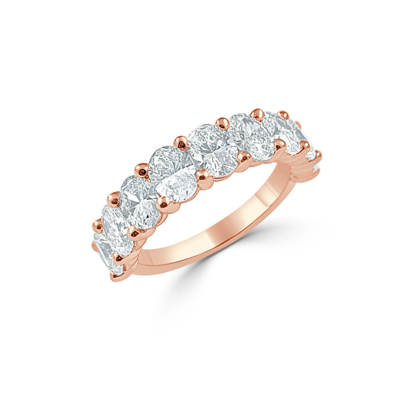 Sabrina Designs 14k Rose Gold Oval Diamond Band