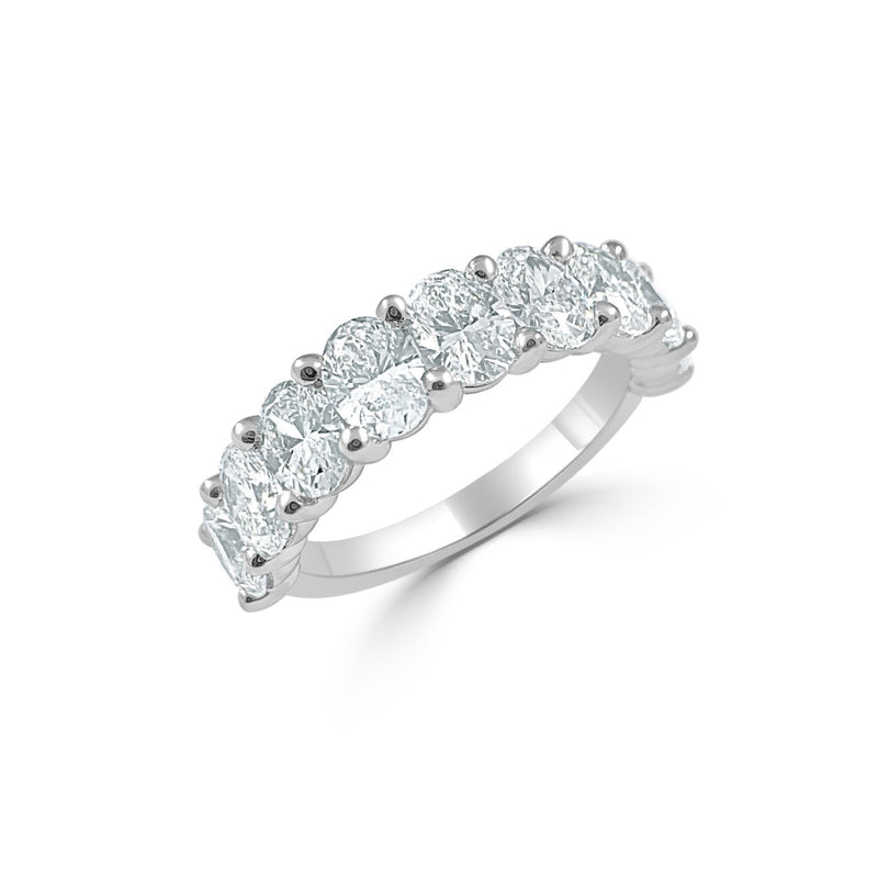 Sabrina Designs 14k White Gold Oval Diamond Band
