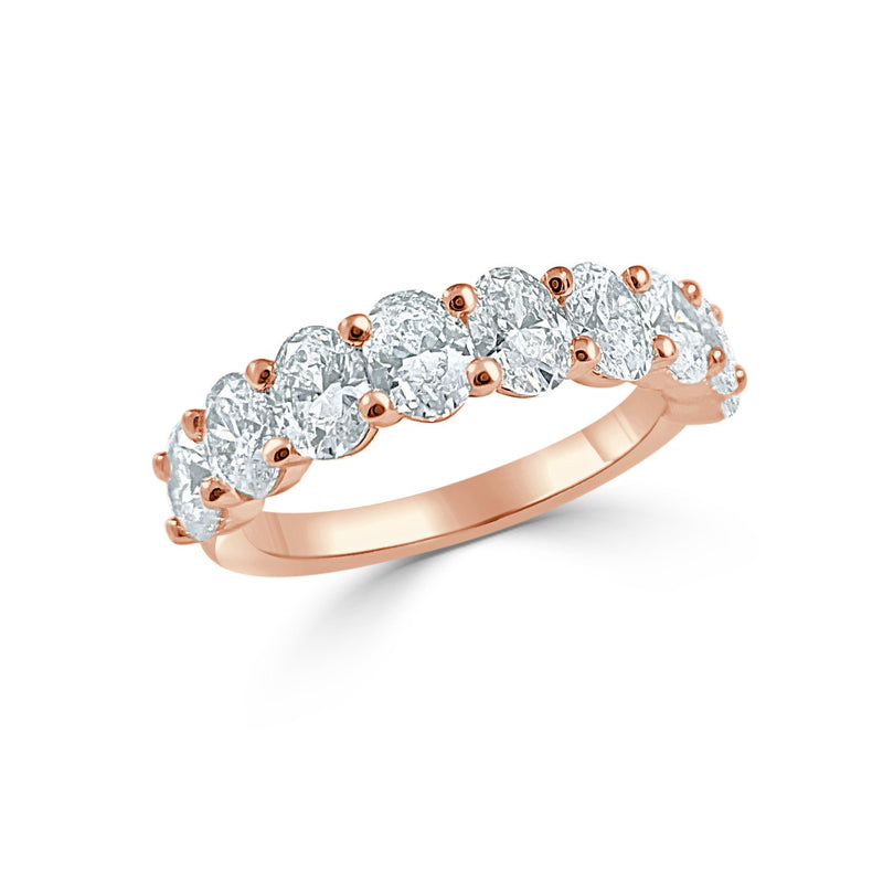 Sabrina Designs 14k Rose Gold Oval Diamond 1/2 Around Band