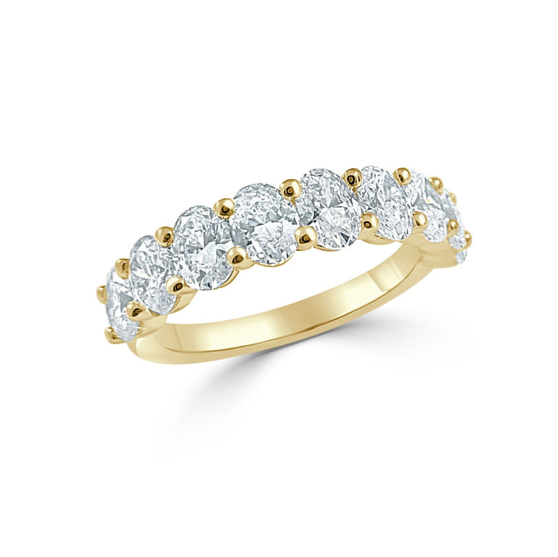 Sabrina Designs 14k Yellow Gold Oval Diamond 1/2 Around Band