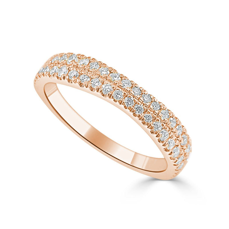 Sabrina Designs 14K Rose Gold Diamond Halfway Around Ring