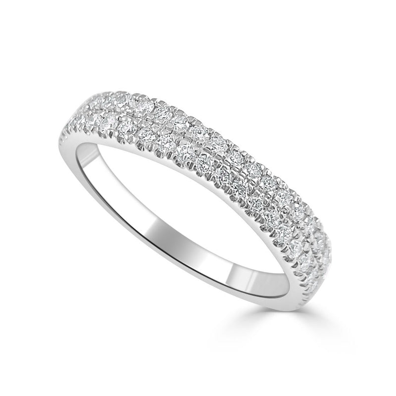 Sabrina Designs 14K White Gold Diamond Halfway Around Ring