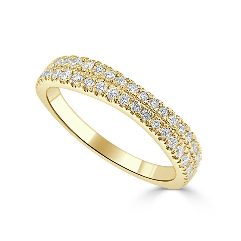 Sabrina Designs 14K Yellow Gold Diamond Halfway Around Ring