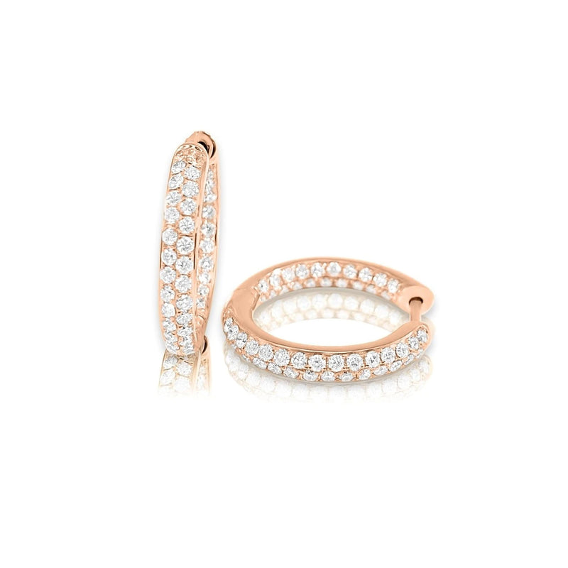 Diamond Pave Inside/Out Huggie Earrings