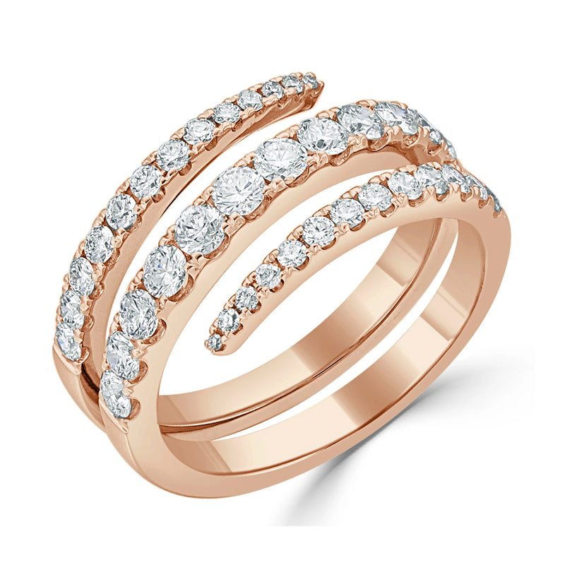 Diamond 3 Row Ring