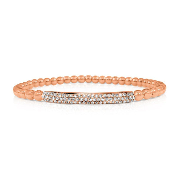 Sabrina Designs 18k Rose Gold Diamond Beaded Bracelet