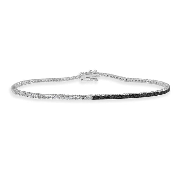 Black & White Diamond Tennis Bracelet
