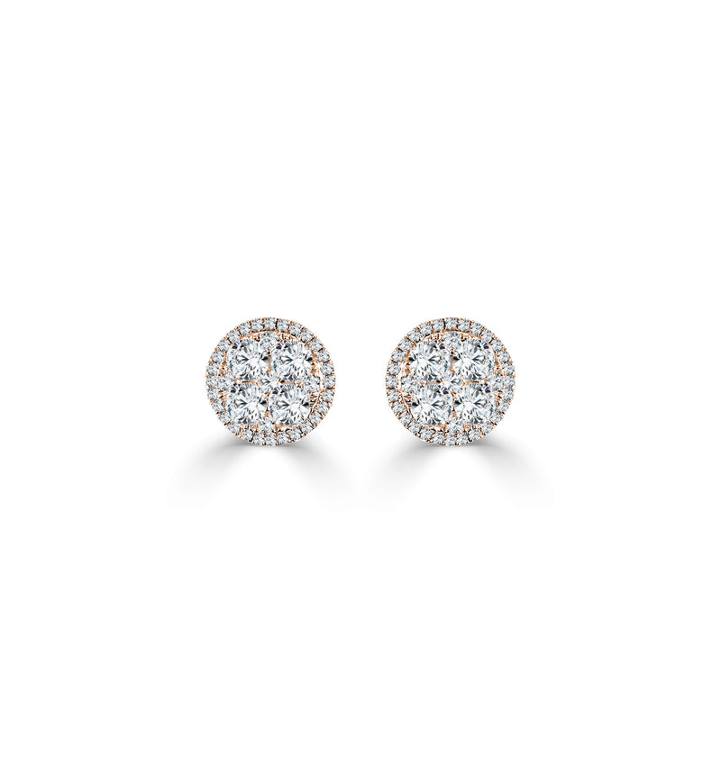 Sabrina Designs 18k Yellow Gold Diamond Cluster Studs