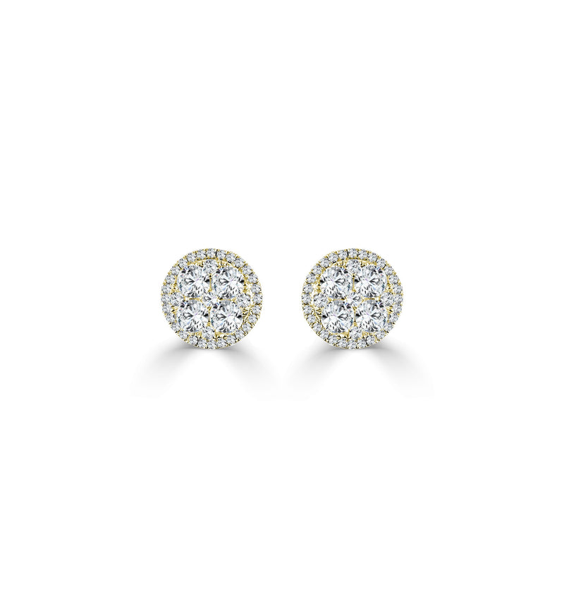 Sabrina Designs 18k Rose Gold Diamond Cluster Studs