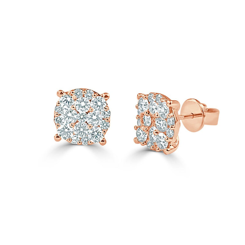 Sabrina Designs 18k Rose Gold Diamond Studs