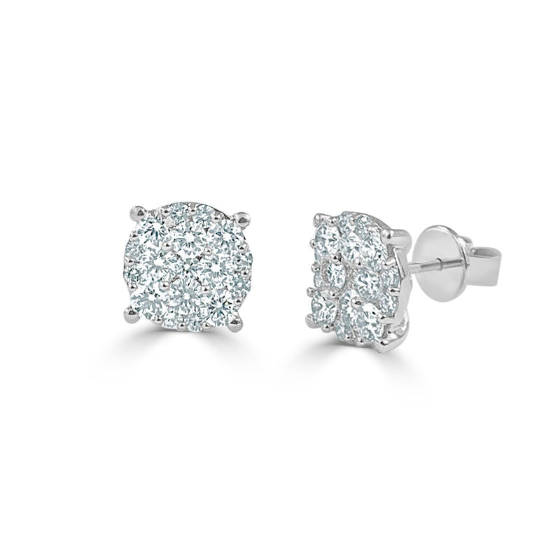 Sabrina Designs 18k White Gold Diamond Studs