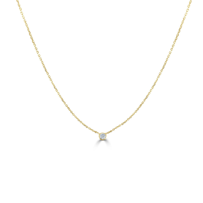 Sabrina Designs 14k Yellow Gold Diamond Bezel Necklace 0.20 ct.