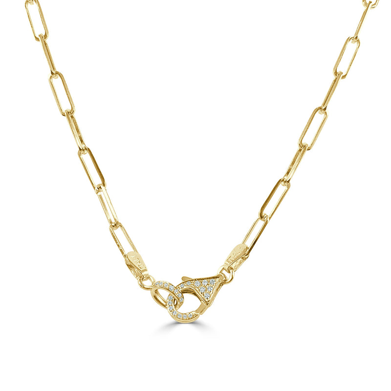 Sabrina Designs 14k Yellow Gold Diamond Lobster Link Necklace
