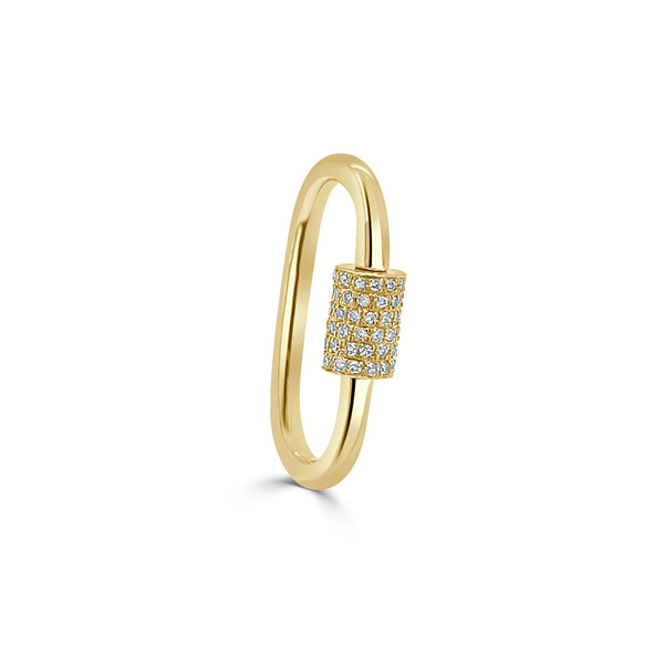 Gold and Diamond Pave Screw Enhancer