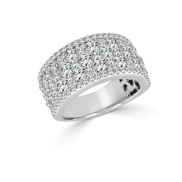 18K Gold Wide Pave Diamond Band