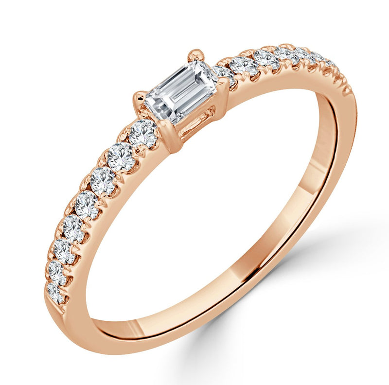 Sabrina Designs 18K Rose Gold Baguette Ring