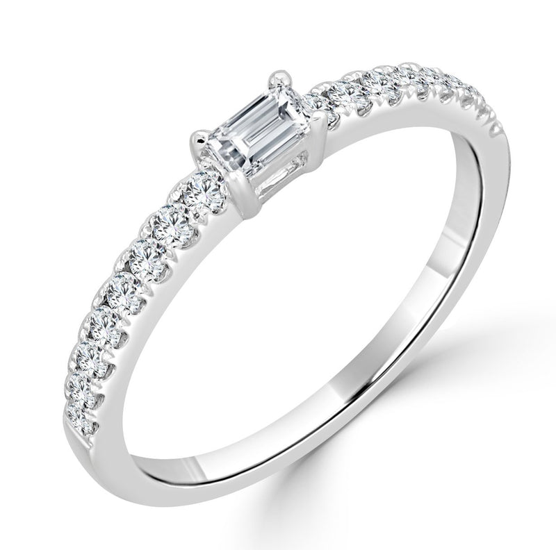 Sabrina Designs 18K White Gold Baguette Ring