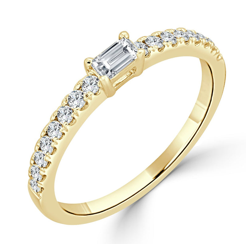 Sabrina Designs 18K Yellow Gold Baguette Ring