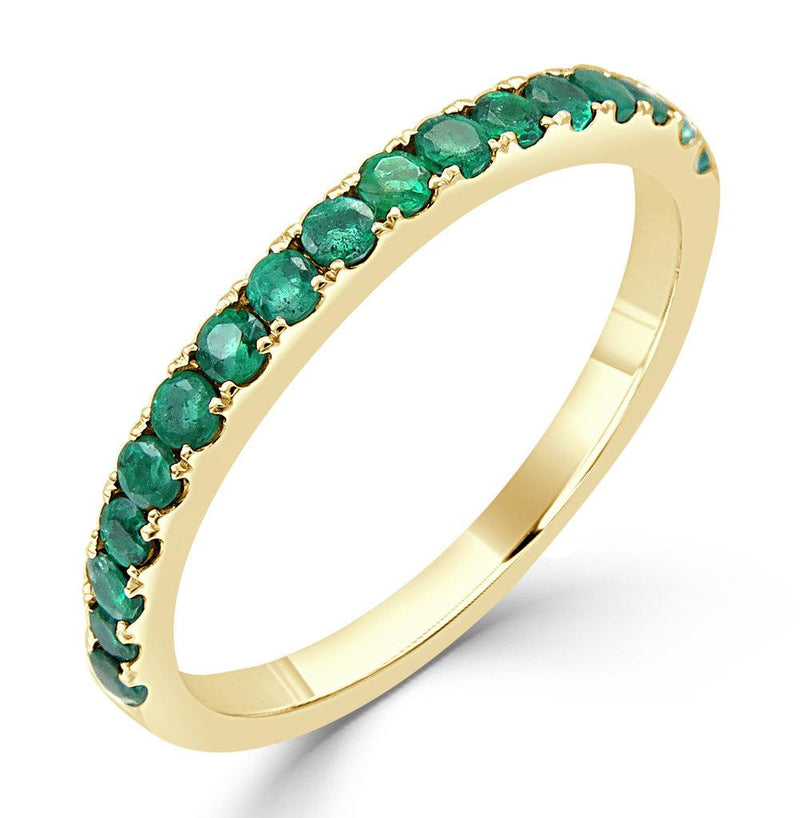 "<p style=""white-space: pre-wrap;"">18K Gold Emerald Ring"