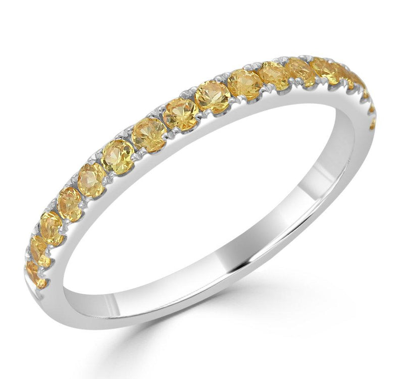 18K Gold Yellow Sapphire Ring
