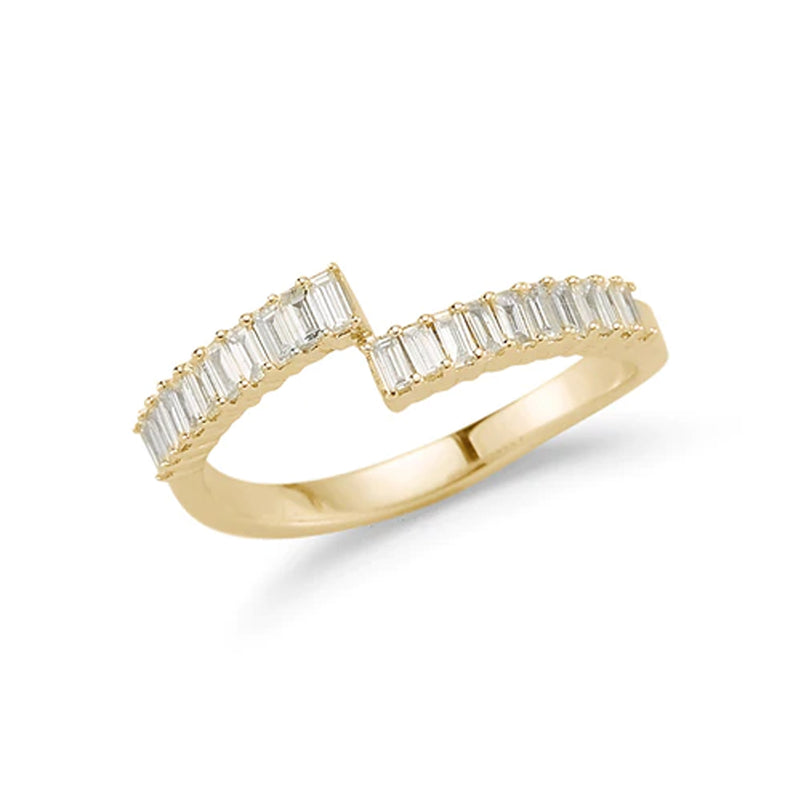 Dana Rebecca Designs Sadie Pearl Split Baguette Ring