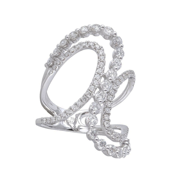 Bypass Diamond Wave Ring