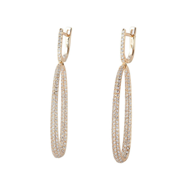 Oval Pave Inside/Out Earrings