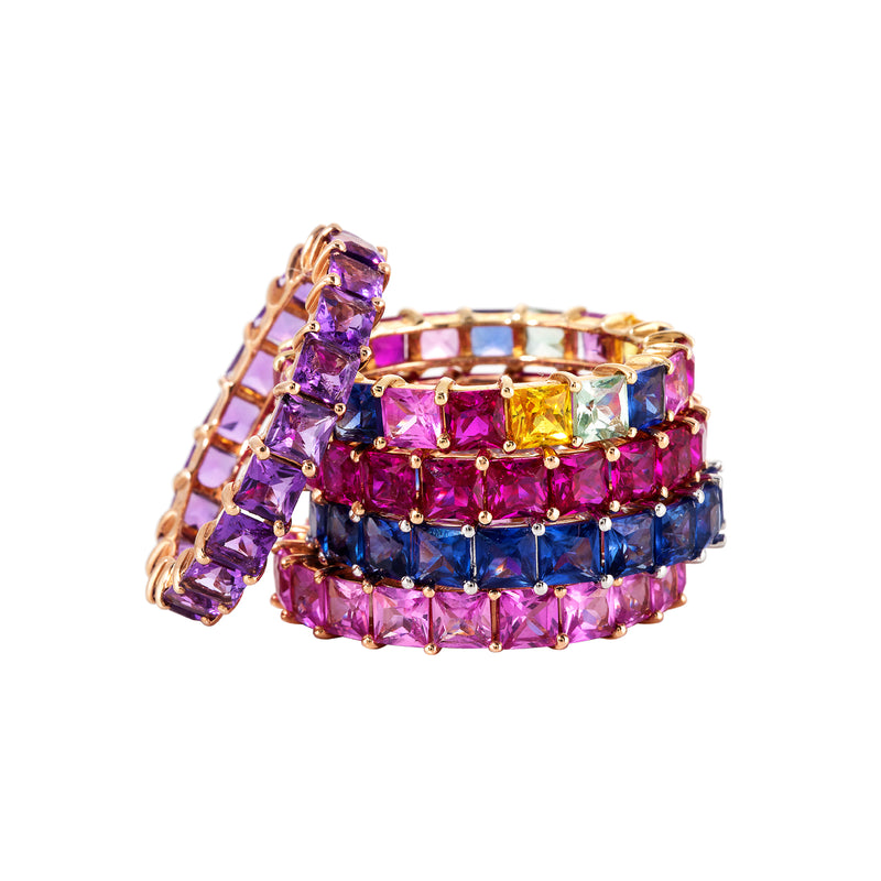 Pink Sapphire Stack Ring