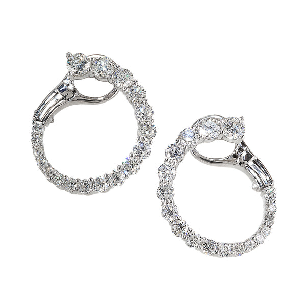 """Jenna C"" Wrap Around Diamond Hoop"