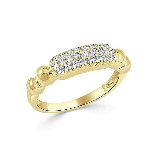 Diamond Pave Bar Ring