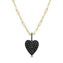 14k Black Gold Black Diamond Heart Charm