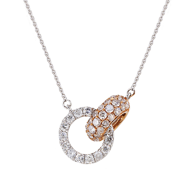 Diamond Linked Circle Necklace